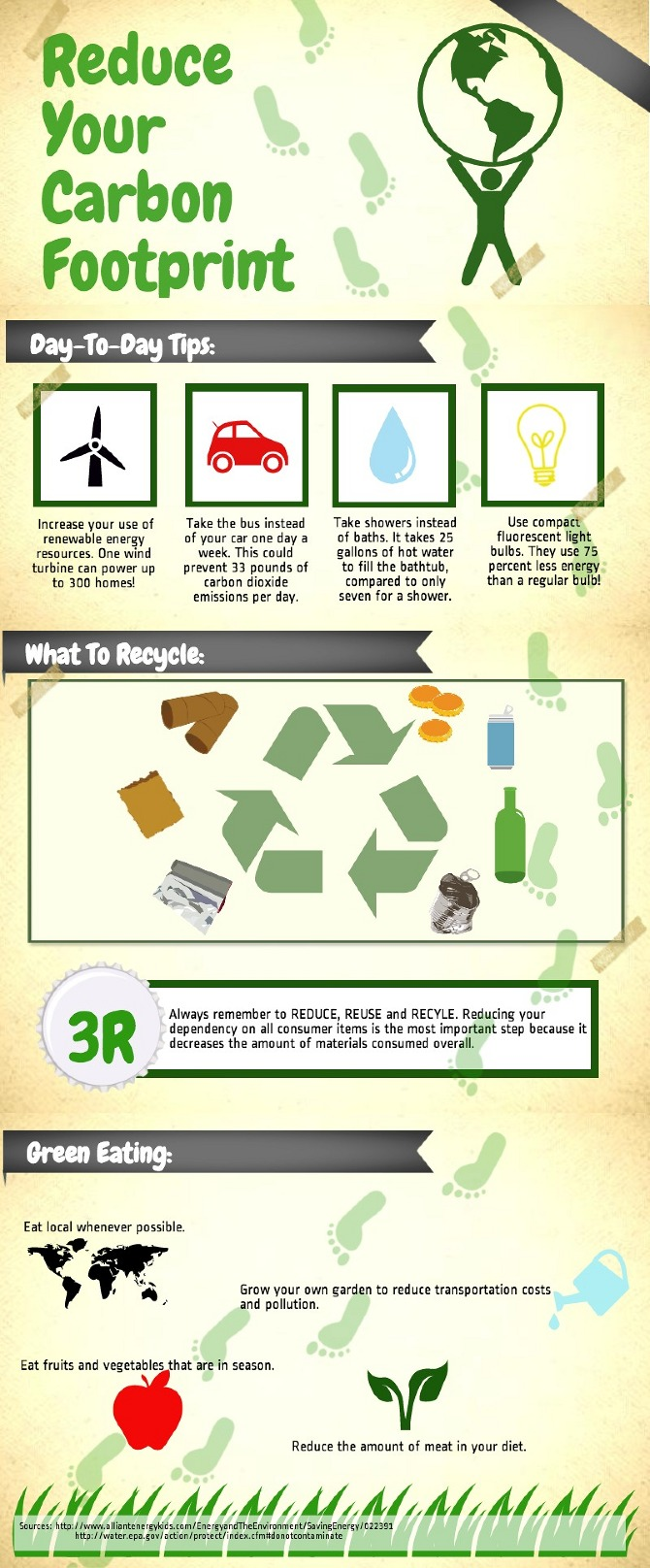 Persuasive Infographic: Carbon Footprint - Megan H. Russell